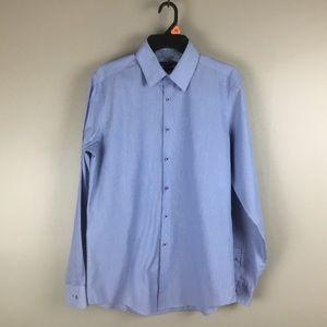 Vanheusen mens blue dress shirt 15.5 34/35